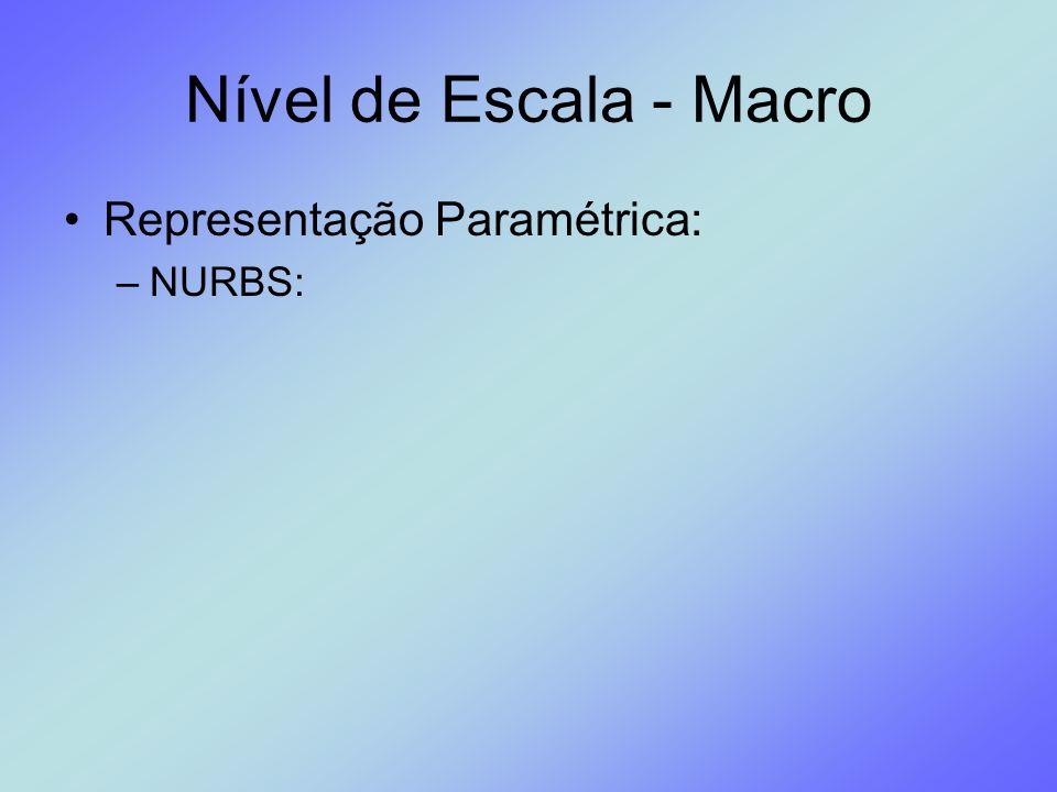 Nível de Escala - Macro Representação Paramétrica: –NURBS: