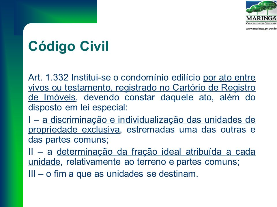 Código Civil Art.