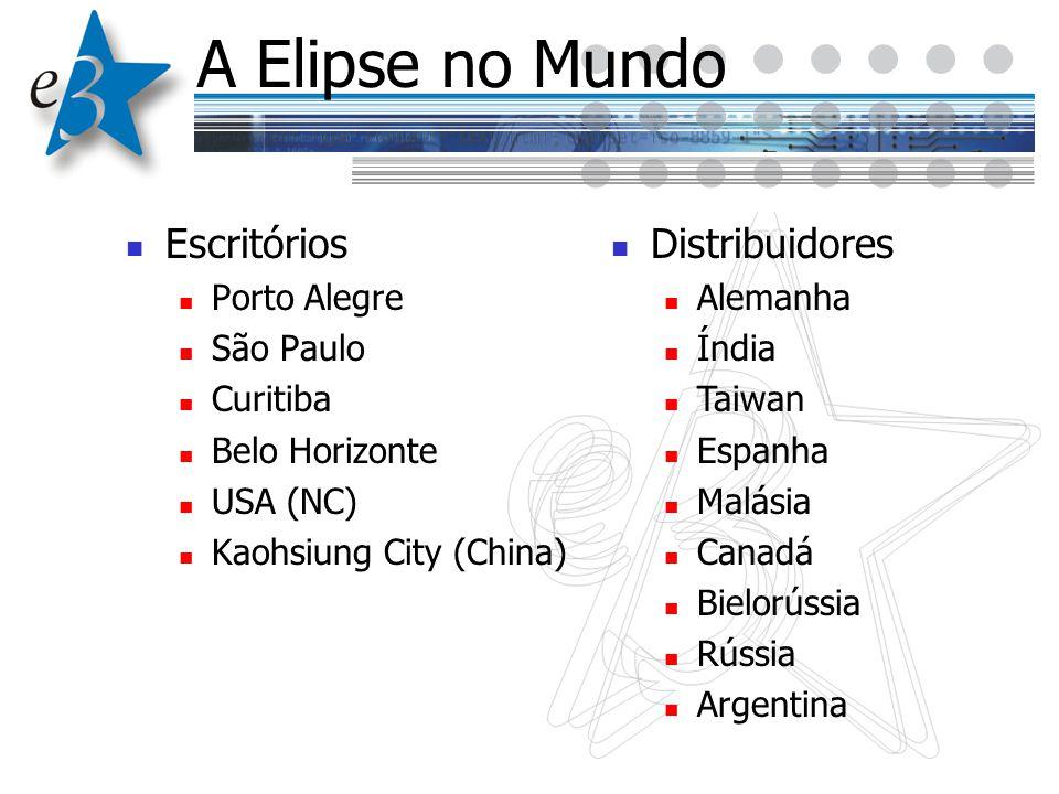 A Elipse no Mundo Escritórios Porto Alegre São Paulo Curitiba Belo Horizonte USA (NC) Kaohsiung City (China) Distribuidores Alemanha Índia Taiwan Espa