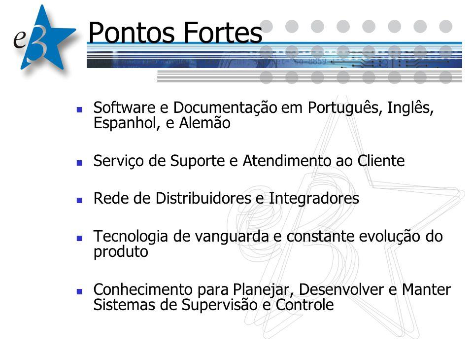 Pontos Fortes Software e Documentação em Português, Inglês, Espanhol, e Alemão Serviço de Suporte e Atendimento ao Cliente Rede de Distribuidores e In