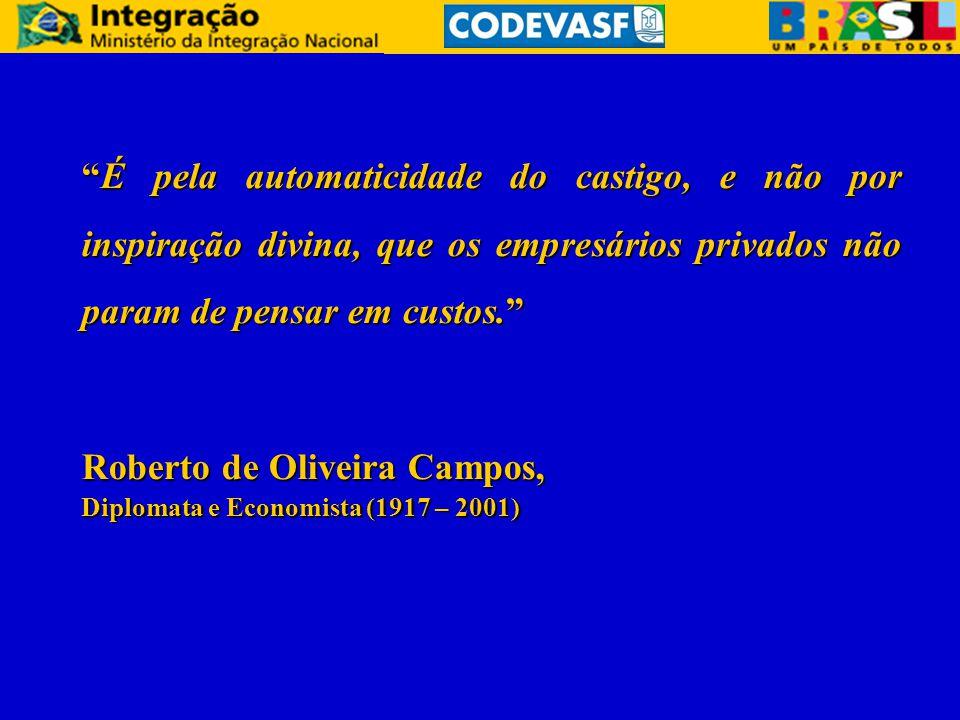 É pela automaticidade do castigo, e não por inspiração divina, que os empresários privados não param de pensar em custos. Roberto de Oliveira Campos, Diplomata e Economista (1917 – 2001)
