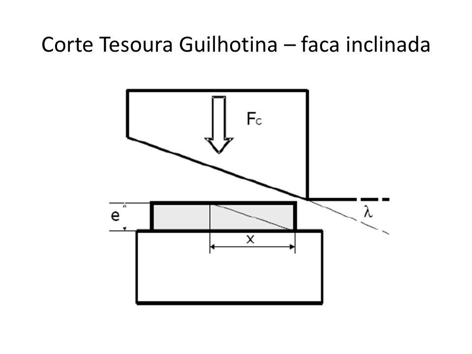 Corte Tesoura Guilhotina – faca inclinada