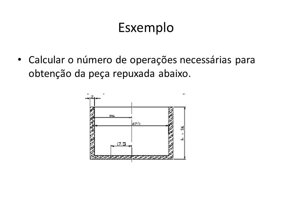 Esxemplo Calcular o número de operações necessárias para obtenção da peça repuxada abaixo.