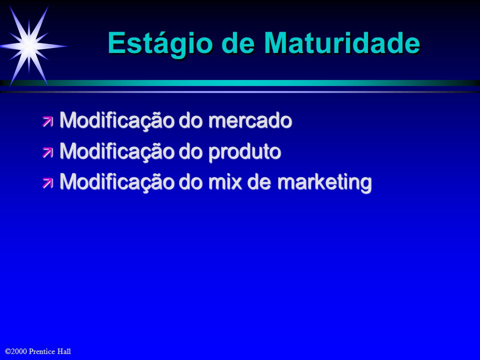 ©2000 Prentice Hall Quatro Estratégias de Marketing de Introdução Estratégia de skimmingrápido penetraçãorápida penetraçãolenta skimminglento Preço Ba