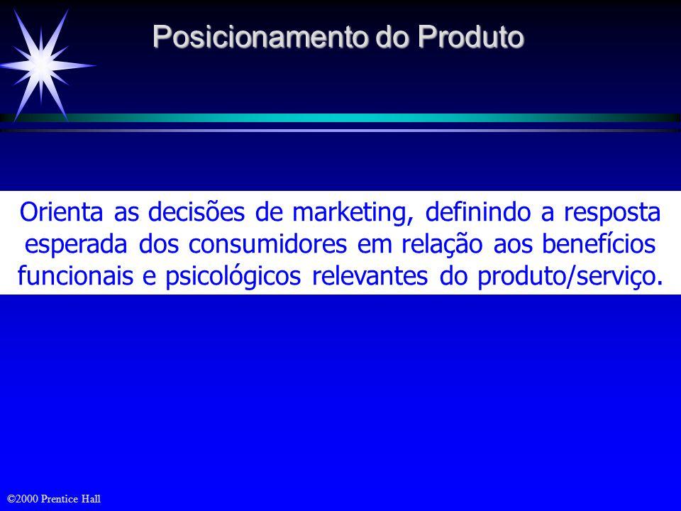 ©2000 Prentice Hall Posicionamento - DEFINIÇÕES Posicionamento é o que se faz na mente do cliente em perspectiva. Não é o que se faz com o produto, ma