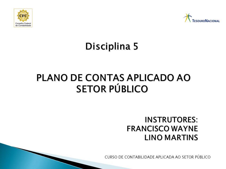 CURSO DE CONTABILIDADE APLICADA AO SETOR PÚBLICO Disciplina 5 PLANO DE CONTAS APLICADO AO SETOR PÚBLICO PLANO DE CONTAS APLICADO AO SETOR PÚBLICOINSTR