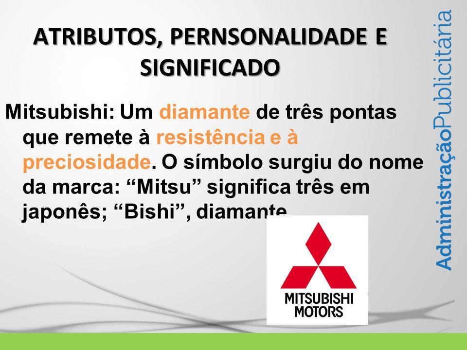 Mitsubishi: Um diamante de três pontas que remete à resistência e à preciosidade.
