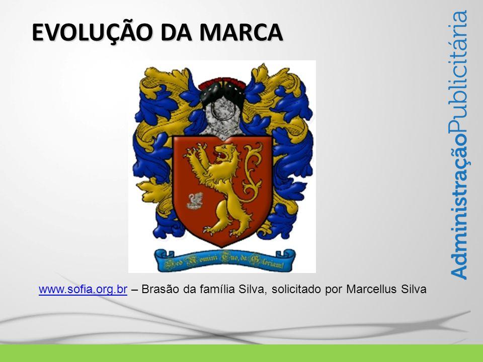 EVOLUÇÃO DA MARCA www.sofia.org.brwww.sofia.org.br – Brasão da família Silva, solicitado por Marcellus Silva