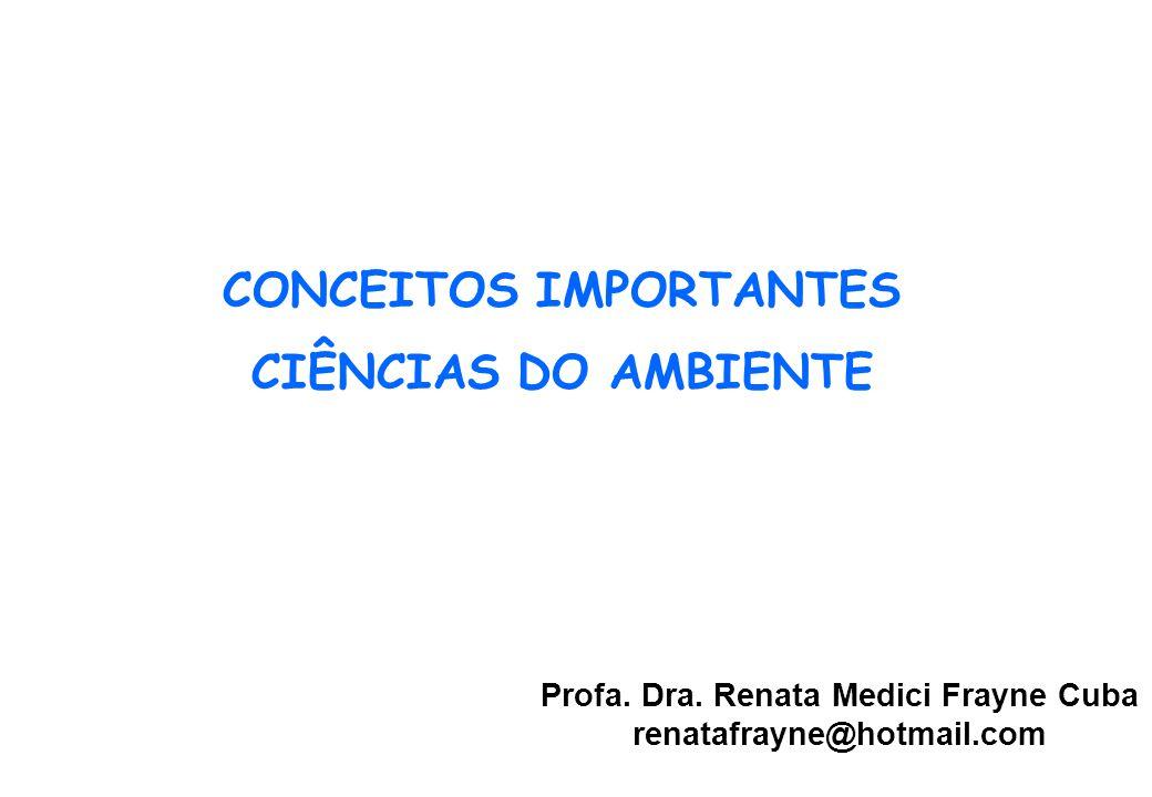 CONCEITOS IMPORTANTES CIÊNCIAS DO AMBIENTE Profa.Dra.