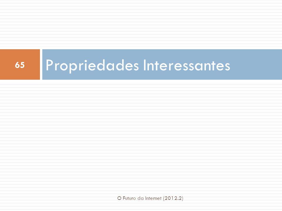Propriedades Interessantes 65 O Futuro da Internet (2012.2)
