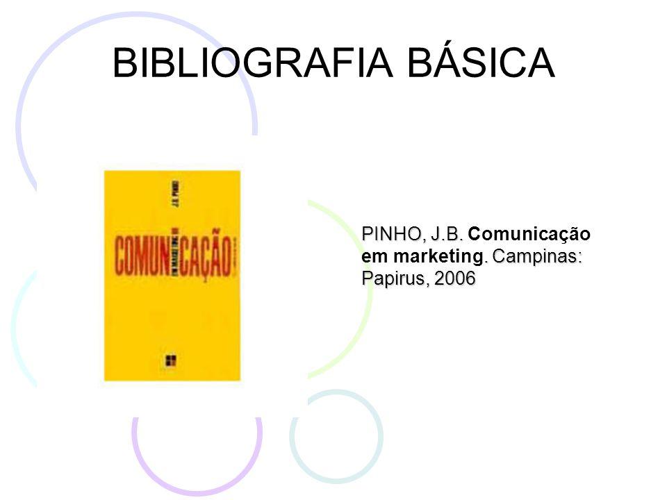 BIBLIOGRAFIA BÁSICA PINHO, J.B.. Campinas: Papirus, 2006 PINHO, J.B.