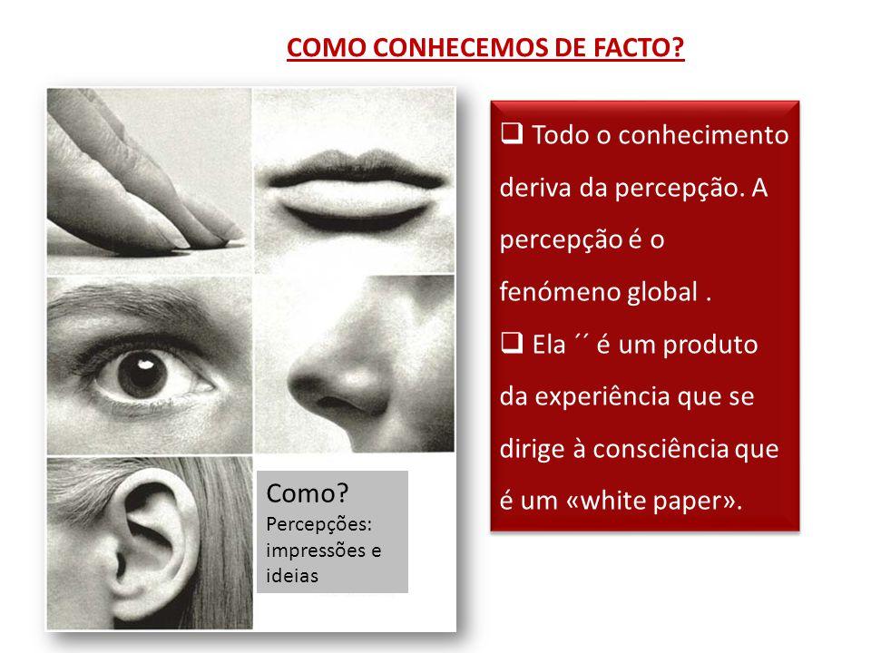 COMO CONHECEMOS DE FACTO. Como.