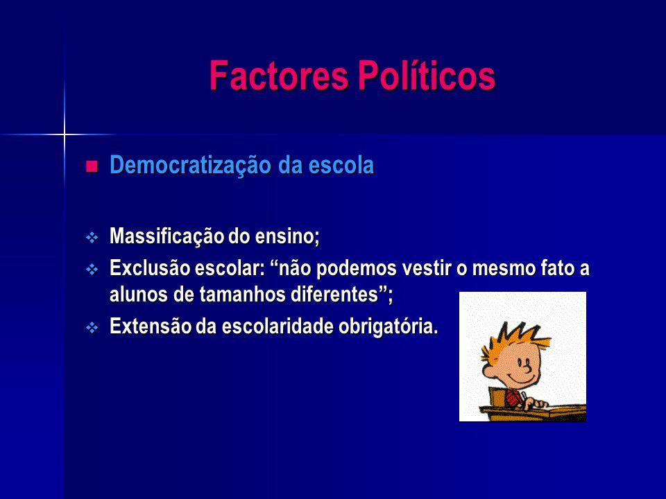 Factores Políticos Incapacidade política e orgânica Incapacidade política e orgânica  passagem de um sistema autoritário e disciplinado para outro pe