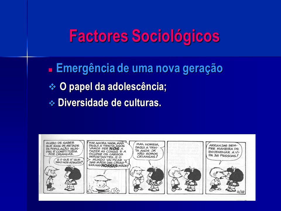 Factores Sociológicos Globalização Globalização  Desvalorização do indivíduo;  A escola como reeducadora;  Origem social do aluno;  Negligência pa