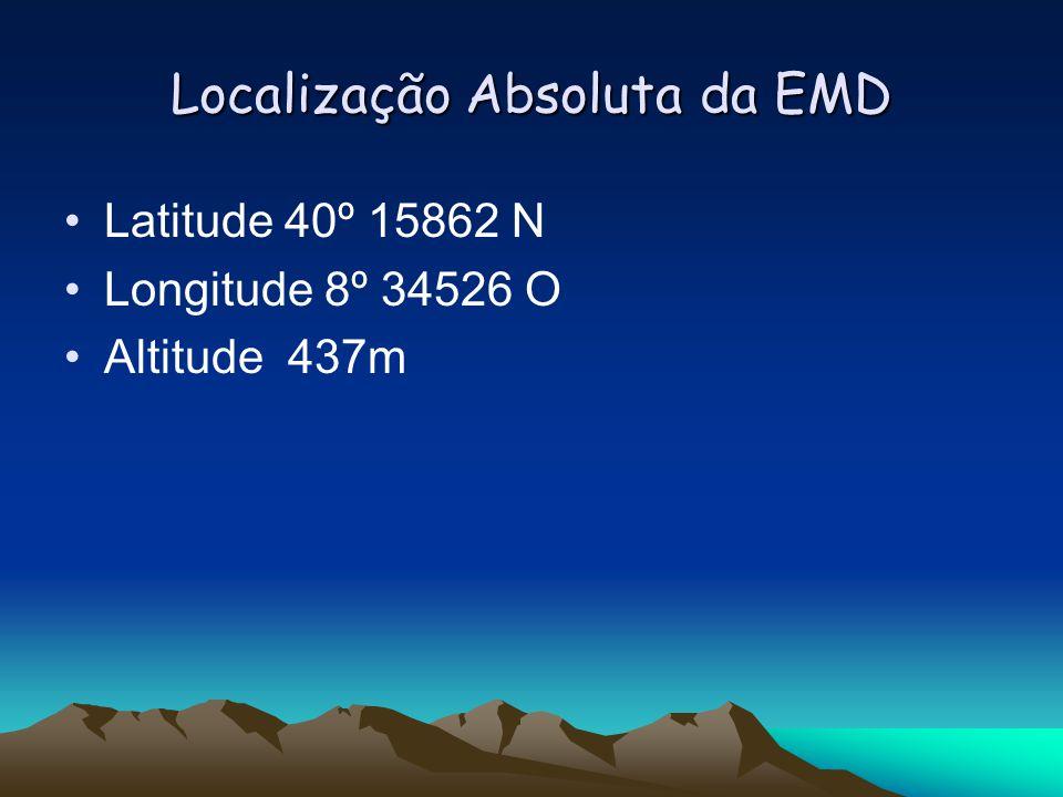 Localização Absoluta da EMD Latitude 40º 15862 N Longitude 8º 34526 O Altitude 437m