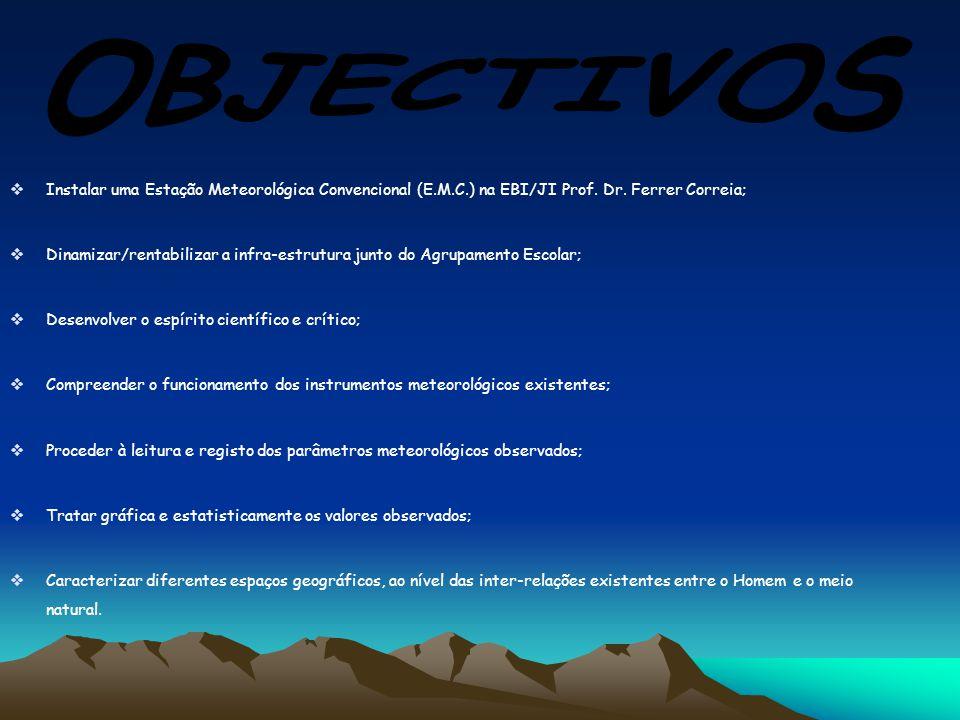  Instalar uma Estação Meteorológica Convencional (E.M.C.) na EBI/JI Prof.