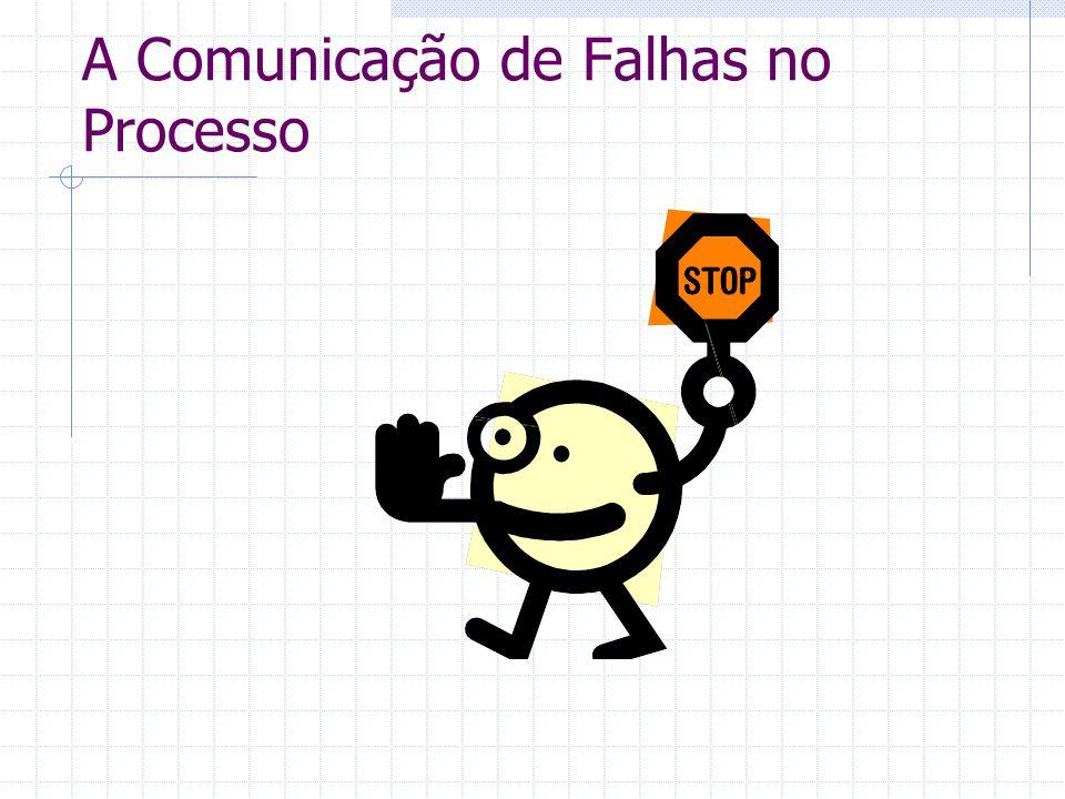 A Comunicação de Falhas no Processo