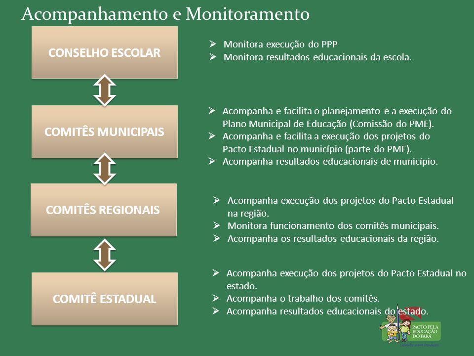 Acompanhamento e Monitoramento  Acompanha execução dos projetos do Pacto Estadual no estado.