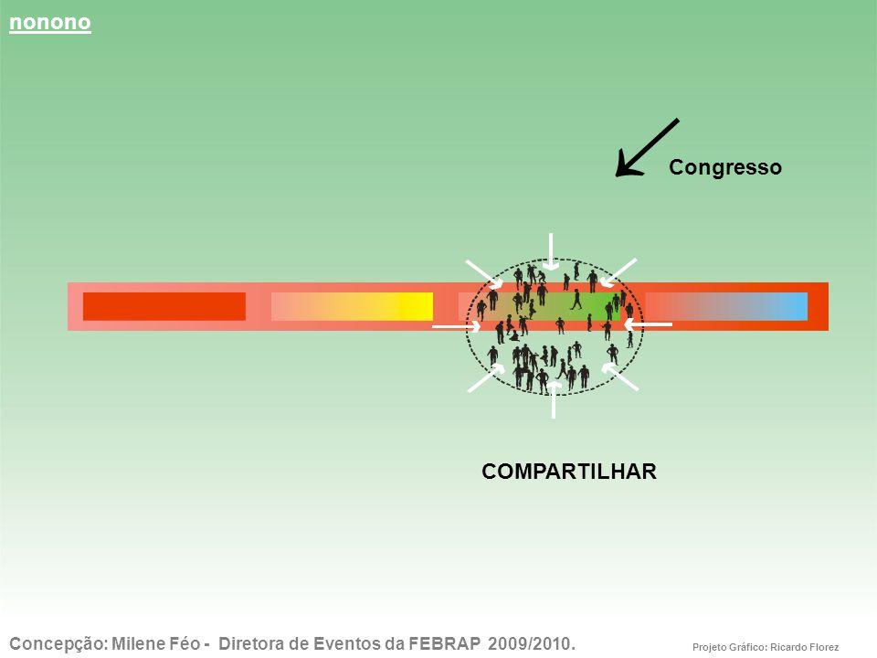 nonono ↓ Congresso COMPARTILHAR Concepção: Milene Féo - Diretora de Eventos da FEBRAP 2009/2010.