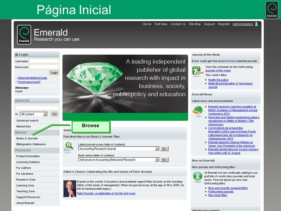 Página Inicial Browse