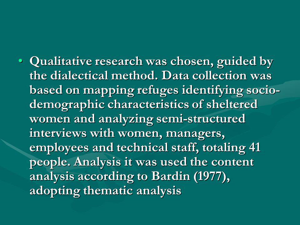 Research Objectives General objective: To analyze the contribution of shelters in meeting the demands of women, protection of life and coping with different forms of violence