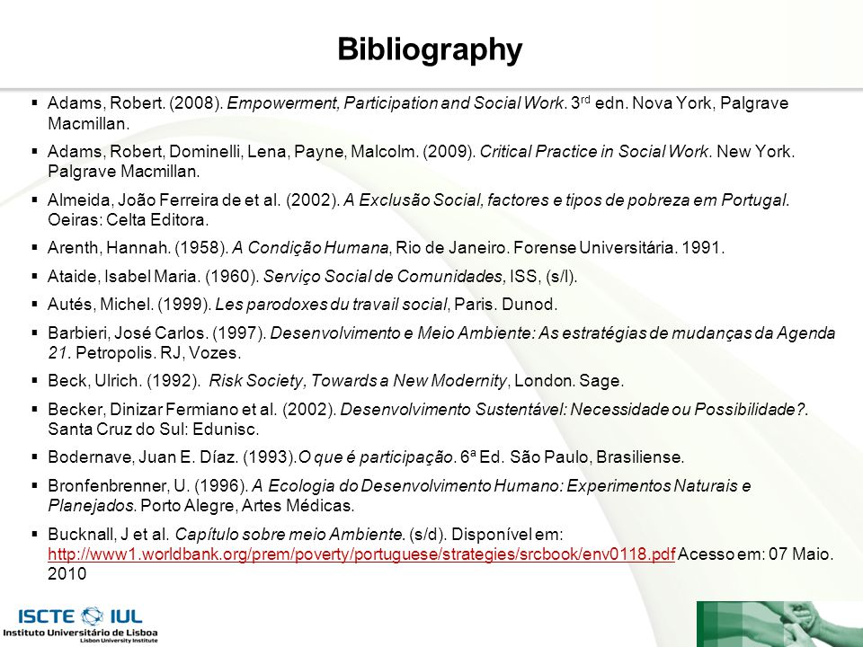 Page  21 Bibliography  Adams, Robert.(2008). Empowerment, Participation and Social Work.