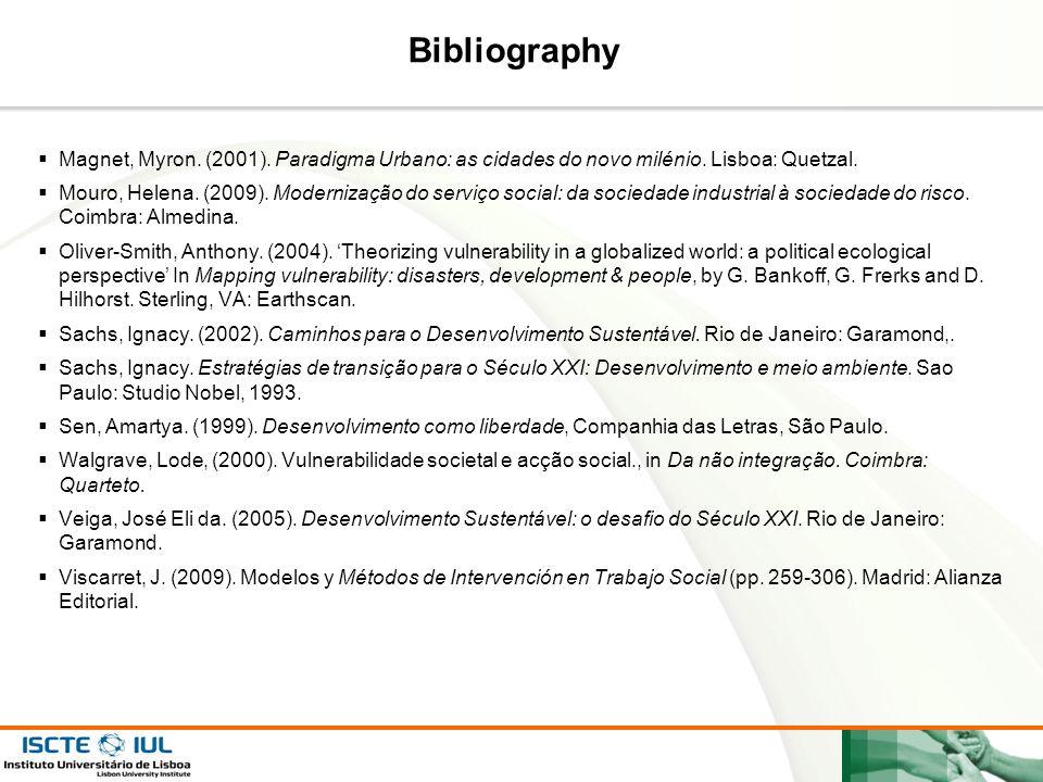 Page  26 Bibliography  Magnet, Myron. (2001). Paradigma Urbano: as cidades do novo milénio. Lisboa: Quetzal.  Mouro, Helena. (2009). Modernização d