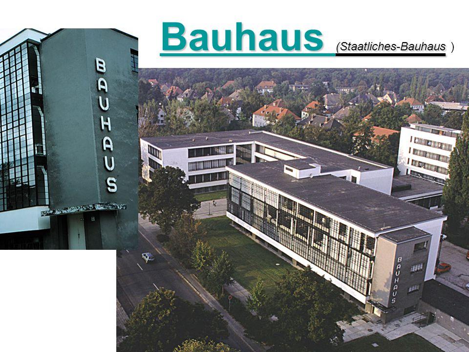Bauhaus (Staatliches-Bauhaus Bauhaus (Staatliches-Bauhaus )