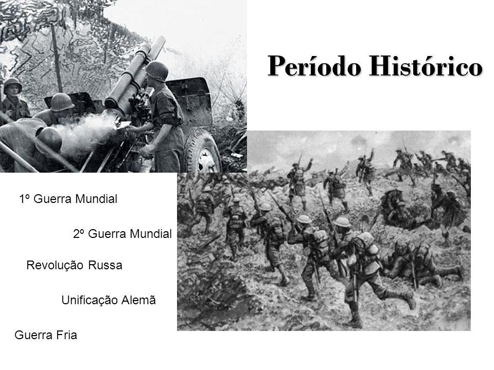 Período Histórico 1º Guerra Mundial 2º Guerra Mundial Revolução Russa Unificação Alemã Guerra Fria