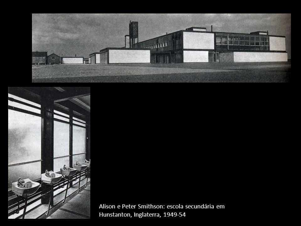 Alison e Peter Smithson: escola secundária em Hunstanton, Inglaterra, 1949-54
