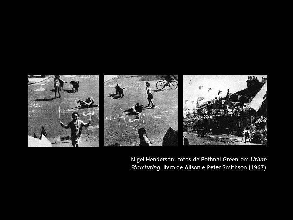 Nigel Henderson: fotos de Bethnal Green em Urban Structuring, livro de Alison e Peter Smithson (1967)