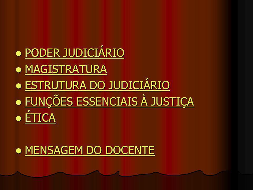 PODER JUDICIÁRIO PODER JUDICIÁRIO PODER JUDICIÁRIO PODER JUDICIÁRIO MAGISTRATURA MAGISTRATURA MAGISTRATURA ESTRUTURA DO JUDICIÁRIO ESTRUTURA DO JUDICI