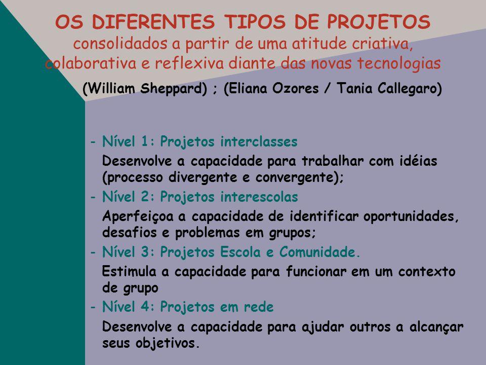 CLASSIFICAÇÃO DE PROJETOS: Em relação a fluxo de comunicação MATRIZ PARA PROJETOS TEMÁTICOS E COLABORATIVOS ( Eliana Ozores e Tania Callegaro)