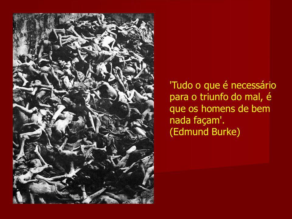 'Tudo o que é necessário para o triunfo do mal, é que os homens de bem nada façam'. (Edmund Burke)