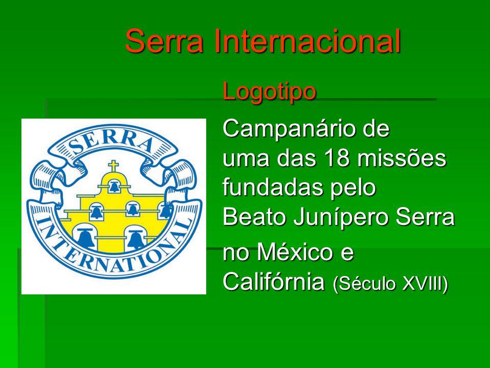 Serra Internacional Logotipo Campanário de uma das 18 missões fundadas pelo Beato Junípero Serra no México e Califórnia (Século XVIII)