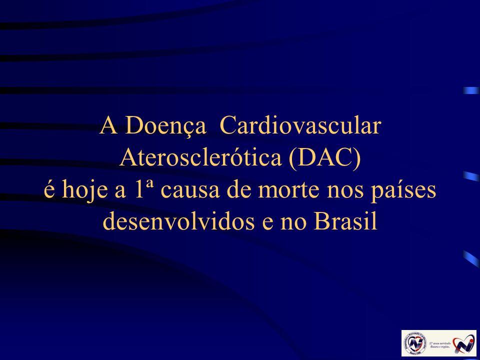 A Doença Cardiovascular Aterosclerótica (DAC) é hoje a 1ª causa de morte nos países desenvolvidos e no Brasil
