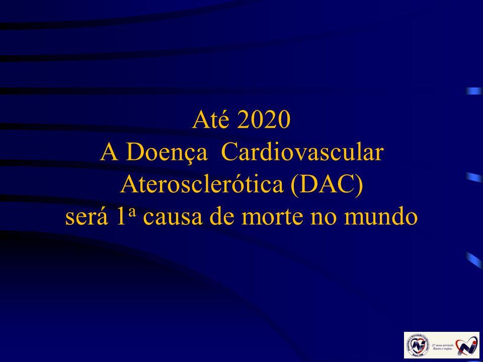 Até 2020 A Doença Cardiovascular Aterosclerótica (DAC) será 1 a causa de morte no mundo