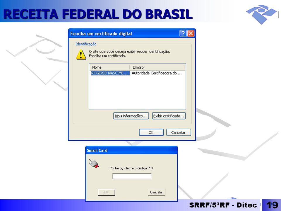 RECEITA FEDERAL DO BRASIL SRRF/5ªRF - Ditec 19