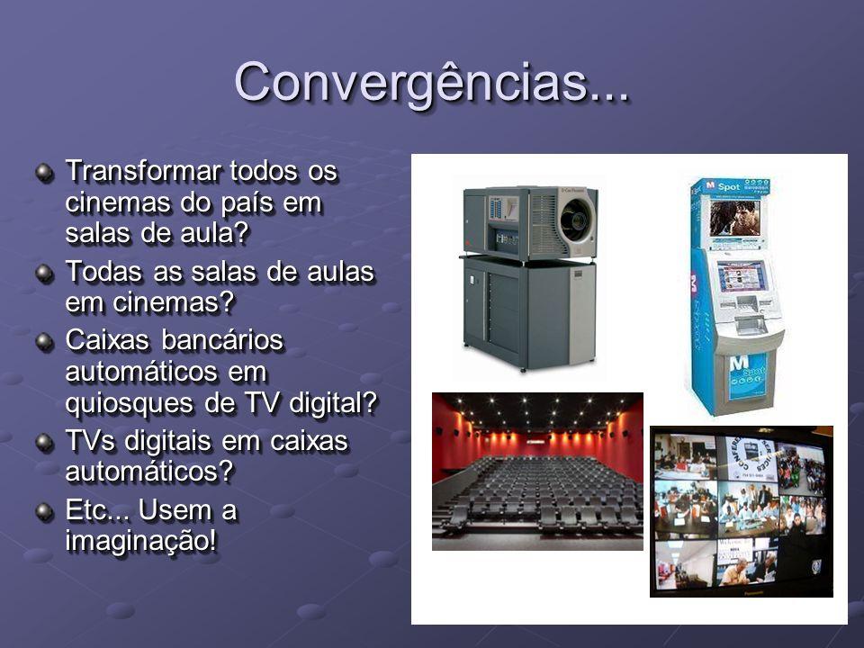 Convergências...Convergências... Transformar todos os cinemas do país em salas de aula.