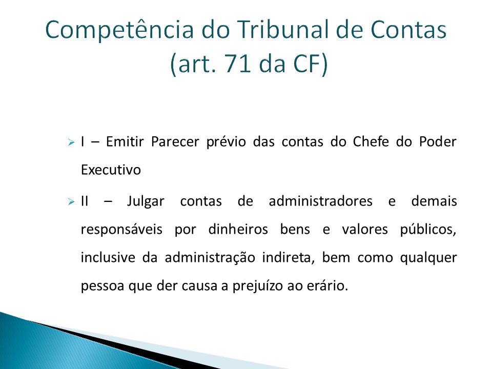 Competência do Tribunal de Contas (art.