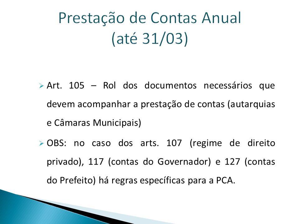 PCA – Rol de documentos – Art.