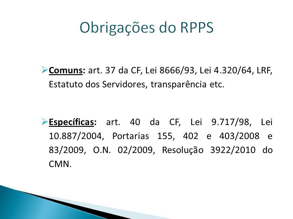 Fiscalização dos RPPS  O gestor ORDENA DESPESA, cuida do patrimônio, chefia servidores, representa o RPPS  Ética pública é o principal requisito.