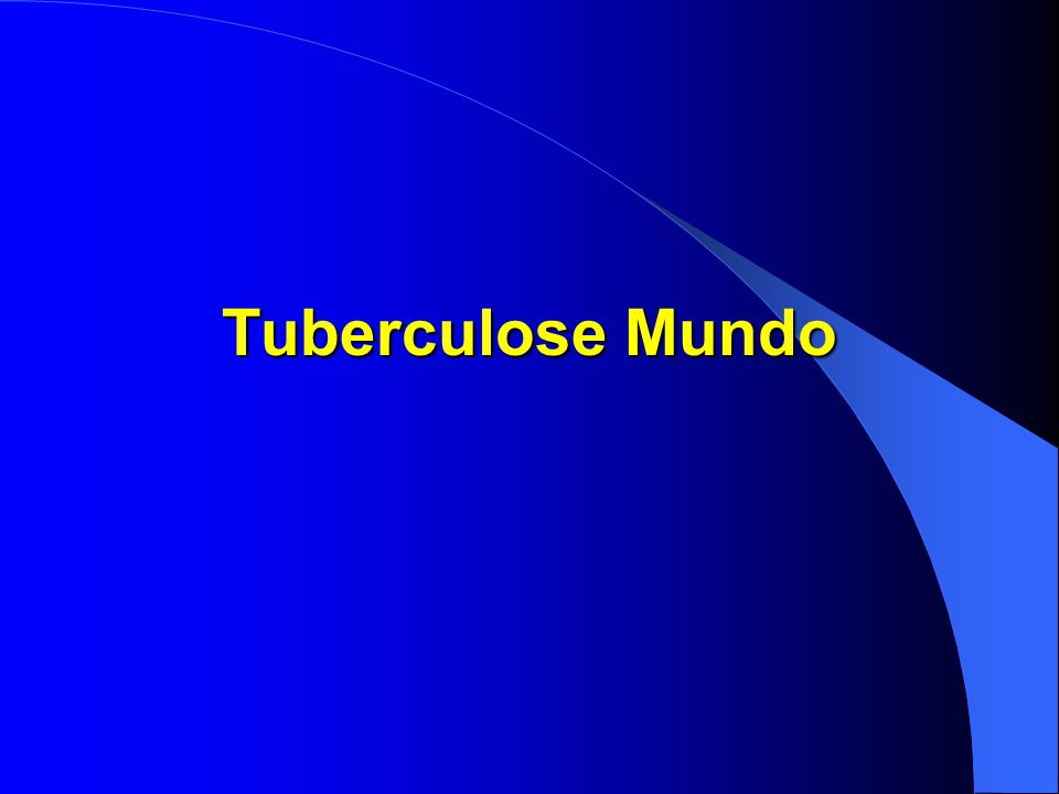 Tuberculose Mundo