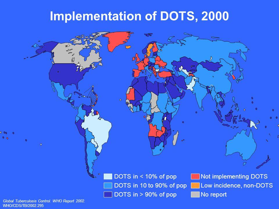 DOTS progress in 22 high-burden countries, 1999-2000 Global Tuberculosis Control.