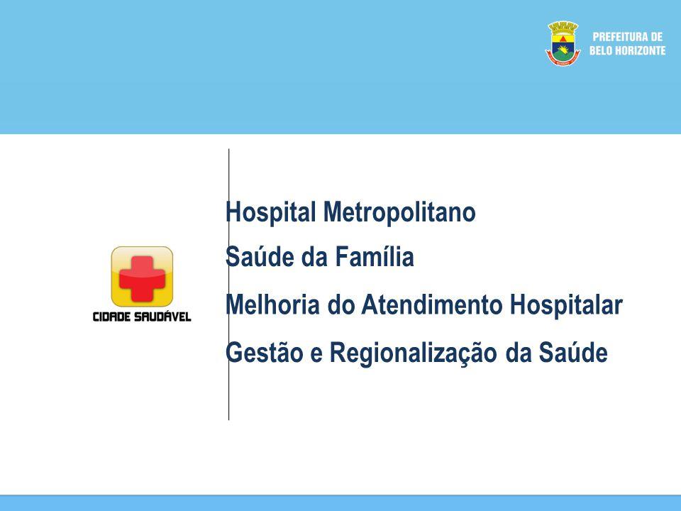 Hospital Metropolitano Saúde da Família Melhoria do Atendimento Hospitalar Gestão e Regionalização da Saúde