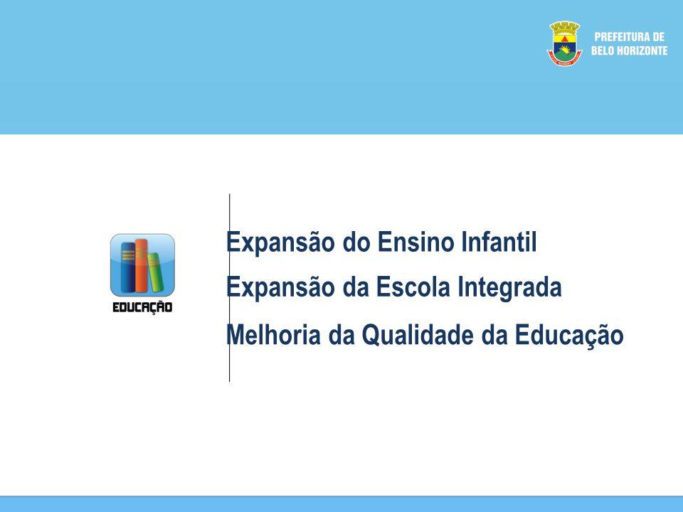 Expansão do Ensino Infantil Expansão da Escola Integrada Melhoria da Qualidade da Educação
