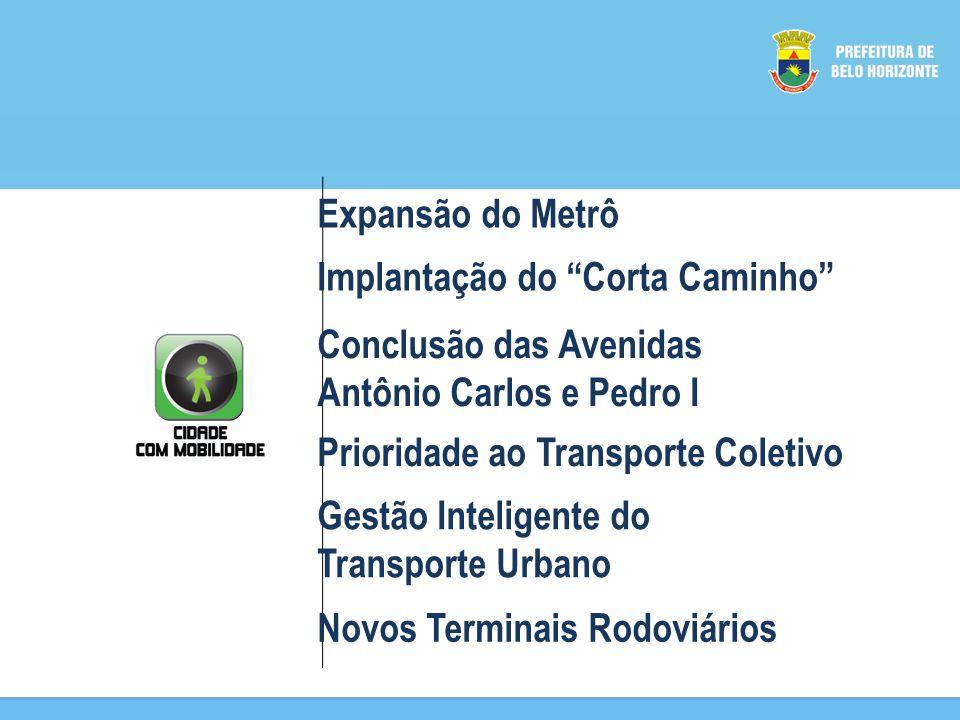 Expansão do Metrô Implantação do Corta Caminho Conclusão das Avenidas Antônio Carlos e Pedro I Prioridade ao Transporte Coletivo Gestão Inteligente do Transporte Urbano Novos Terminais Rodoviários