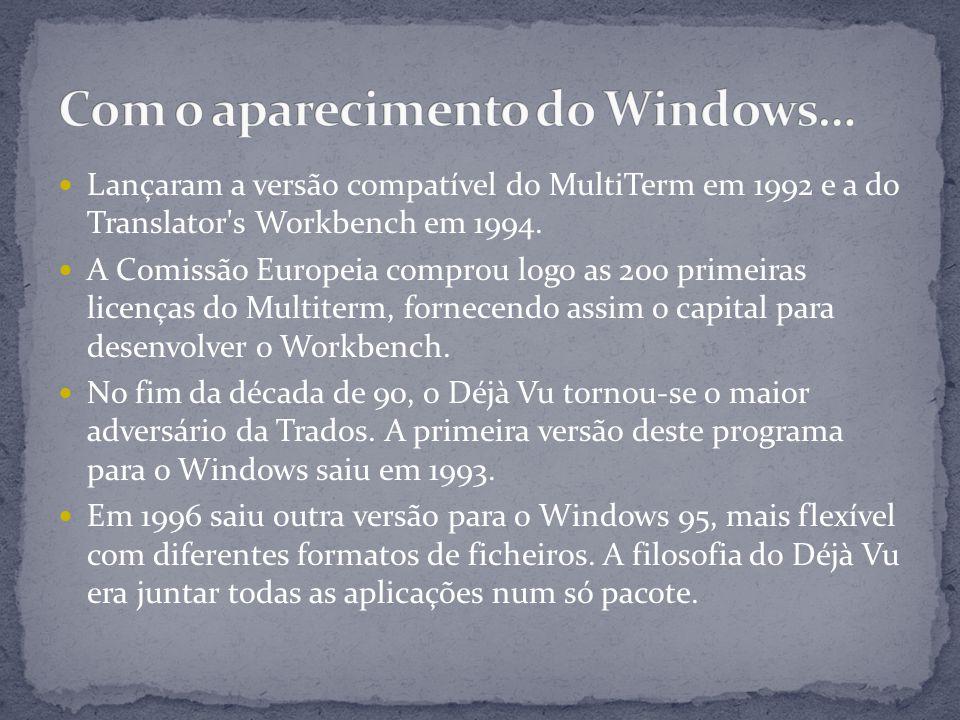 Lançaram a versão compatível do MultiTerm em 1992 e a do Translator s Workbench em 1994.