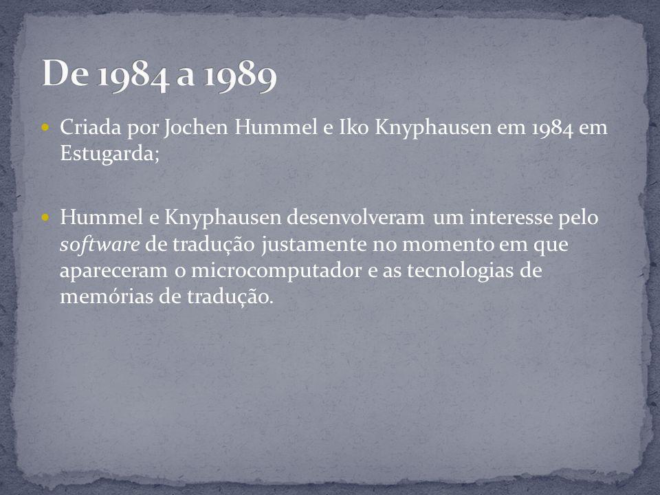 Criada por Jochen Hummel e Iko Knyphausen em 1984 em Estugarda; Hummel e Knyphausen desenvolveram um interesse pelo software de tradução justamente no momento em que apareceram o microcomputador e as tecnologias de memórias de tradução.