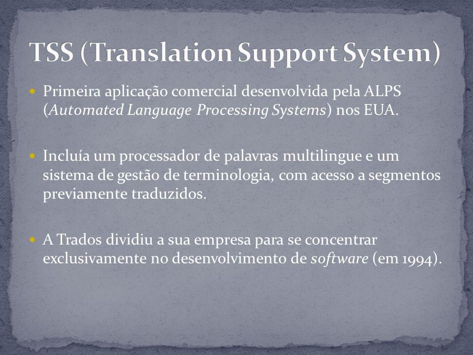 Primeira aplicação comercial desenvolvida pela ALPS (Automated Language Processing Systems) nos EUA.
